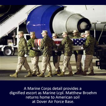 Marine Lcpl. Matthew J. Broehm | God Bless The Troops | Welcome Home