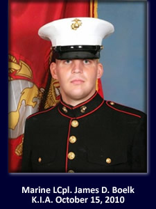 Marine Lcpl. James D. Boelk American Hero
