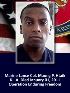 Marine Lcpl. Maung P. Htaik | God Bless The Troops
