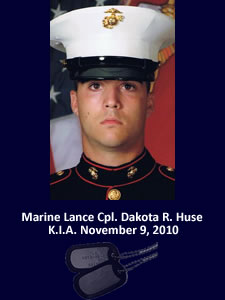 Marine Lcpl. Dakota R. Huse, Hero