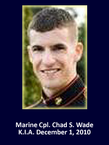 USMC Cpl. Chad S. Wade | God Bless The Troops