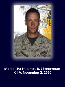God Bless The Troops Honors Marine 1st Lt. James Zimmerman